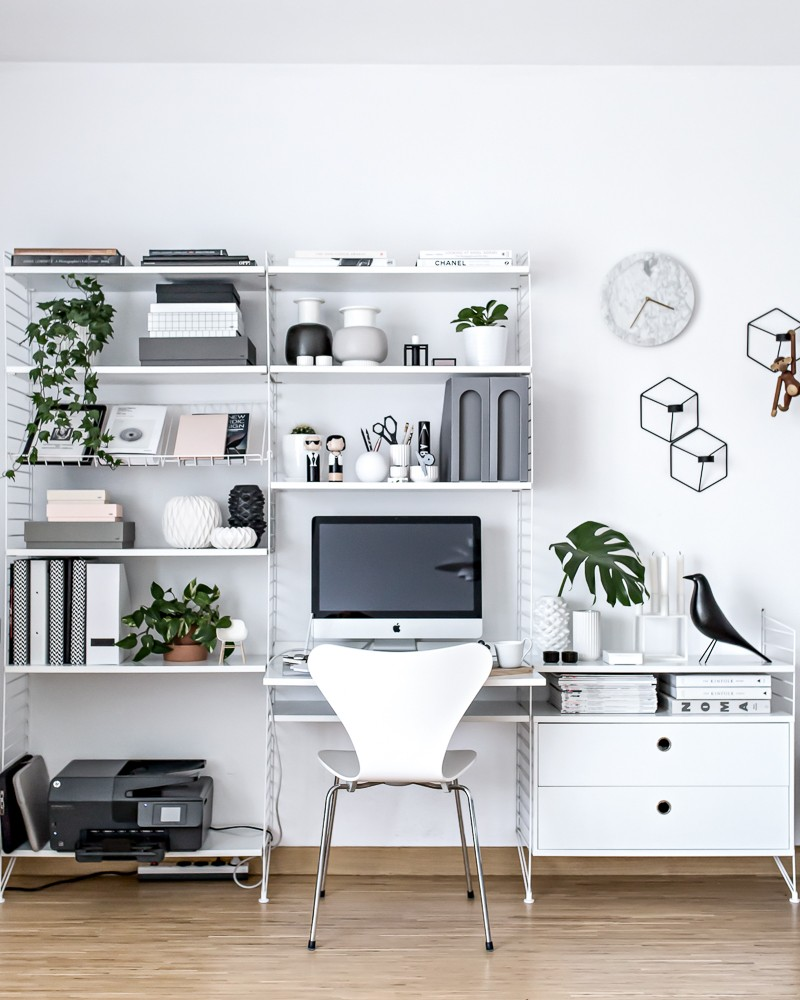 A Dozen Home Workspaces: Home Office - Scandinavian Workspace