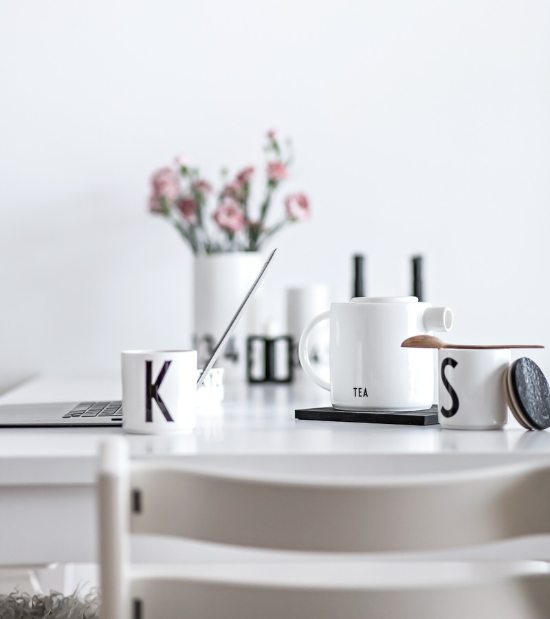 Slow Work | Design Letters porcelain ain the home office | www.my-full-house.com | Top Scandinavian Interior and Lifestyle Blog