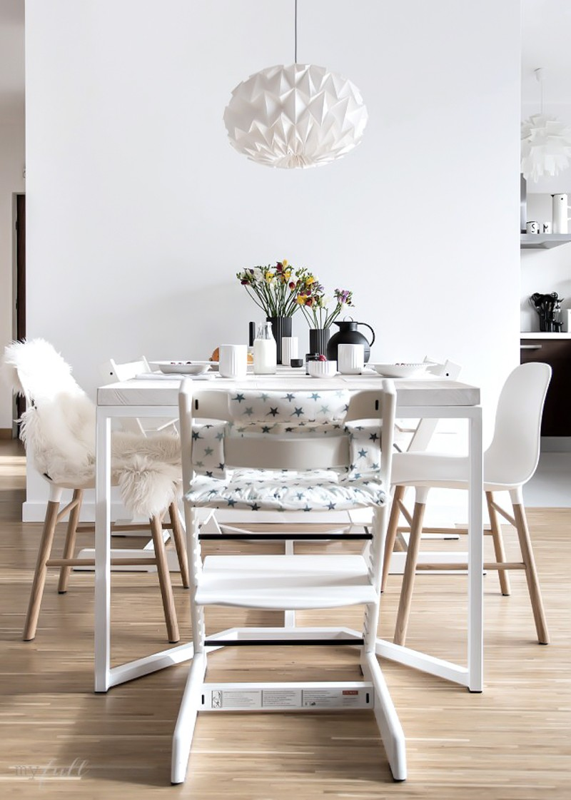 scandinavian table – our dining space