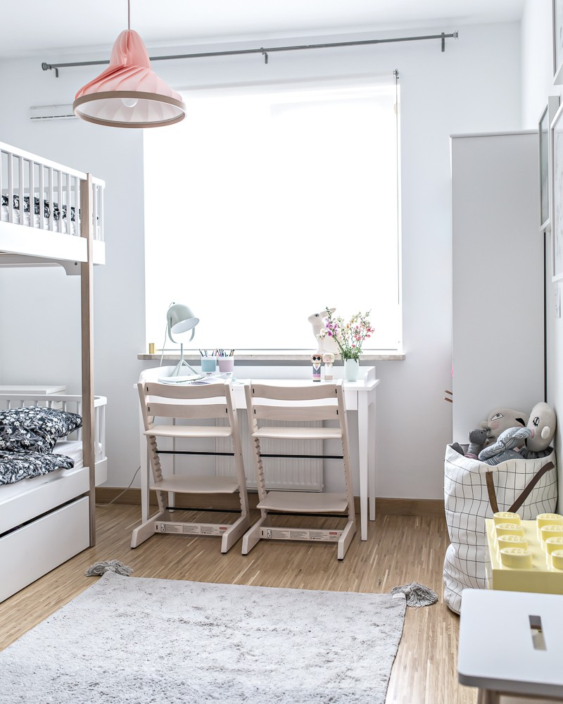 Scandinavian Girls' Room Reveal