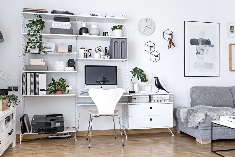 home office scandinavian workspace. Black Bedroom Furniture Sets. Home Design Ideas