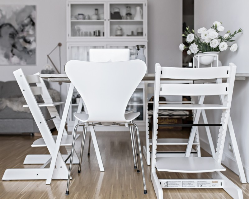 our temporary dining space | www.my-full-house.com | Top Scandinavian Interior and Lifestyle Blog