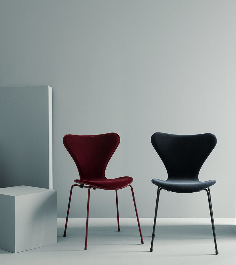 Series 7 chair in Velvet –  lala Berlin x Republic of Fritz Hansen