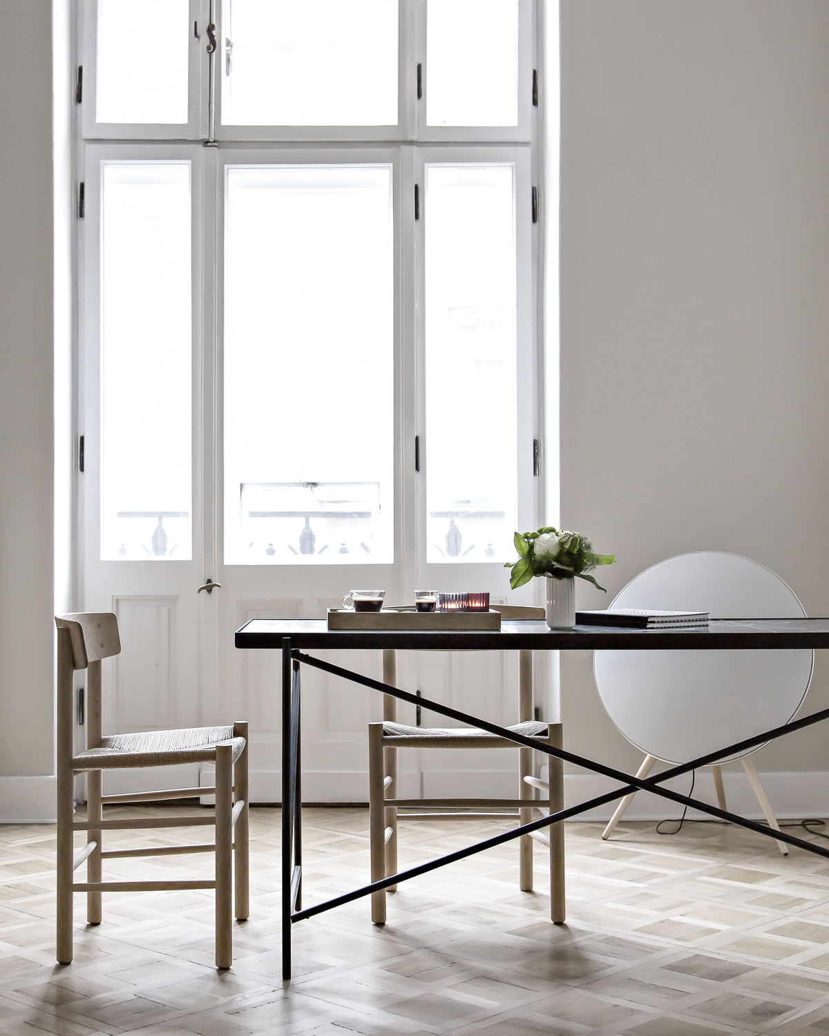 Hygge at the office and beautiful Fredericia chairs